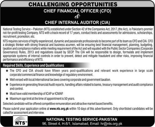 NTS Jobs 2021 Islamabad